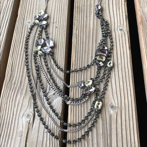 Jewelry - Fabulous Chunky Crystal Tiered Necklace!
